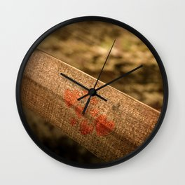 In particular wood Wall Clock