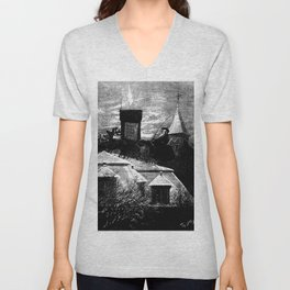 Christmas station - Thomas Nast Unisex V-Neck