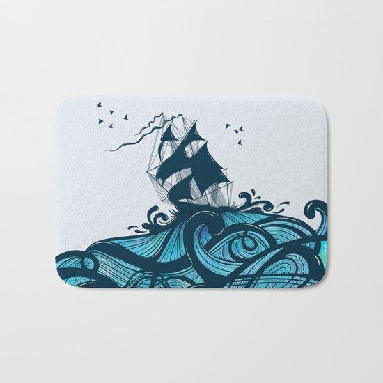 Upon The Sea Bath Mat