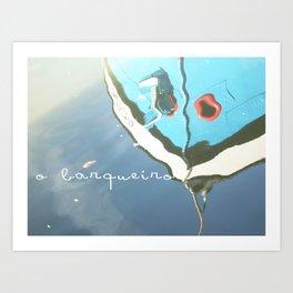 O barqueiro Art Print