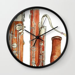 Bassoon Wall Clock
