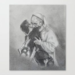 Pope Francis - Showing Us How To Love Canvas Print