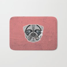 Intelectual Pug Bath Mat