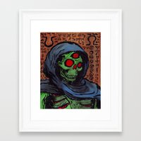 occult Framed Art Prints featuring Occult Macabre by Chris Moet