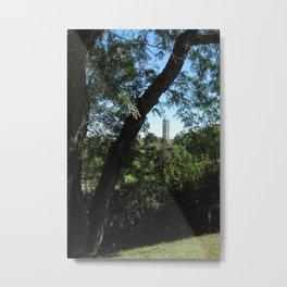 KU Campanile Through The Trees Metal Print