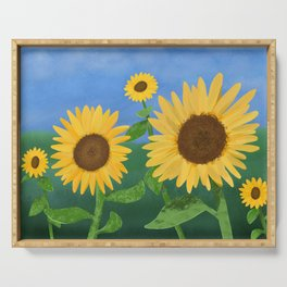 Sunflower Day Serving Tray