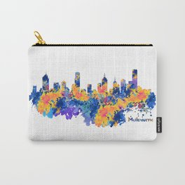 Melbourne Watercolor Skyline Carry-All Pouch
