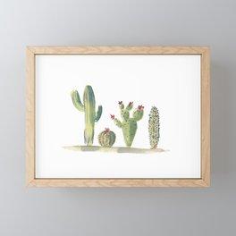 Desert Cacti Framed Mini Art Print
