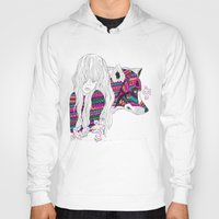 wolf Hoodies featuring ▲SHE-WOLF▲ by Kris Tate