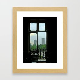 El D. F. Through the Window Framed Art Print