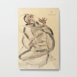 Egon Schiele - I Will Gladly Endure for Art and My Loved Ones Metal Print