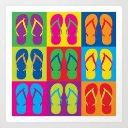 Pop Art Flip Flops Art Print