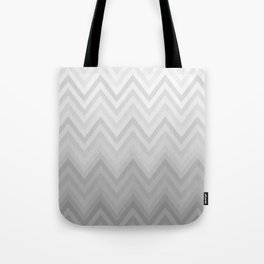 Chevron Fade Grey Tote Bag