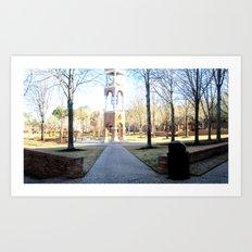 Clock Tower on Campus Art Print