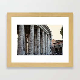 Vatican City Marble Framed Art Print