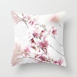 MAGNOLIA WHITE PINK Throw Pillow