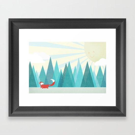 Winter's Over Framed Art Print