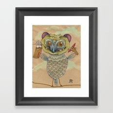 GINGERBREAD BIRD Framed Art Print