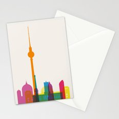 Shapes of Berlin accurate to scale Stationery Cards