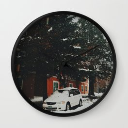 Winter Wonderland, Eugene, OR Wall Clock