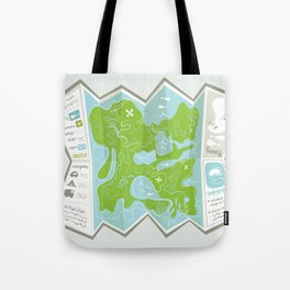 Totally Inaccurate Map of Gifford Pinchot State Park Tote Bag
