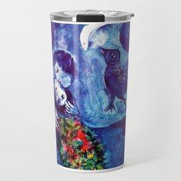 Marc Chagall, Le Paisage Bleu 1949 Artwork, Posters Tshirts Prints Bags Men Women Kids Travel Mug