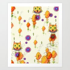 Owls are here Art Print