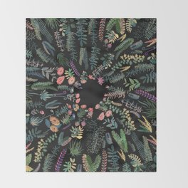focus flowers Throw Blanket