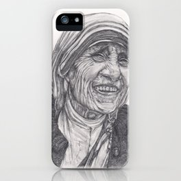 Mother Theresa Drawing iPhone Case
