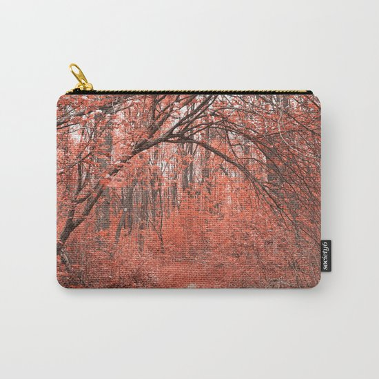 Forest Arch Trail - Salmon Pink Carry-All Pouch