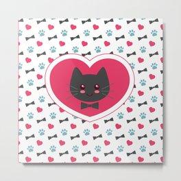Cat in my heart Metal Print