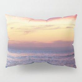 Pink Sunset over Carmel Beach Pillow Sham