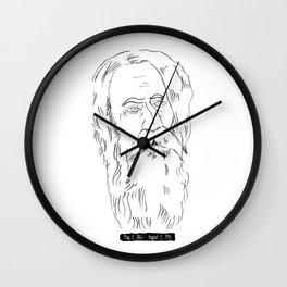 Rabindranath Tagore Charcoal Drawing Wall Clock