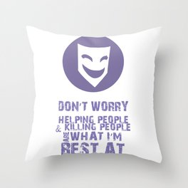 What I'm Best At V2 Throw Pillow