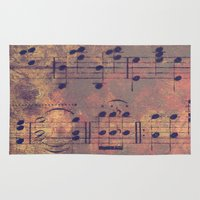 mozart Area & Throw Rugs featuring Notes I Keep by Charlene McCoy
