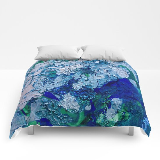 Imagined Ocean View From Above Comforters