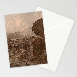 Irish Graveyard | Sepia Graveyard | Halloween Landscape Stationery Cards