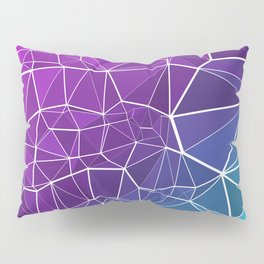 Pink, Purple, and Blue Triangles Pillow Sham