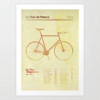 tour de france Art Prints featuring Le Tour de France by Morten Duemose