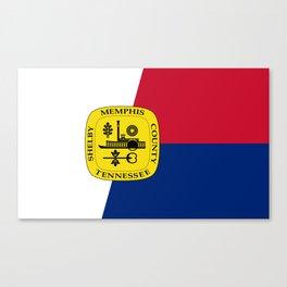united states of america memphis flag Canvas Print