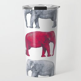 Elephants Red II Travel Mug