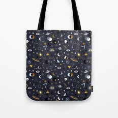 Galaxy ( gold and silver sky)  Tote Bag
