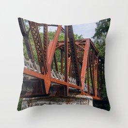 West Virginia Train Bridge Throw Pillow