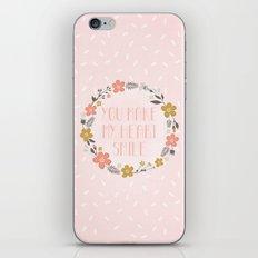 You make my heart smile iPhone Skin