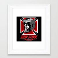 tony stark Framed Art Prints featuring Tony Stark by Ant Atomic