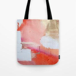 Moving Mountains: a minimal, abstract piece in reds and gold by Alyssa Hamilton Art Tote Bag