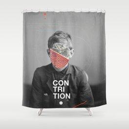 Contrition Shower Curtain