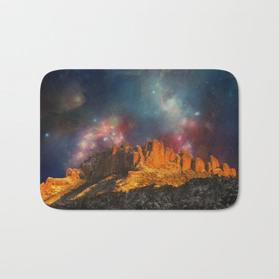 Sacred Mountains 2 (galaxy sky) Bath Mat