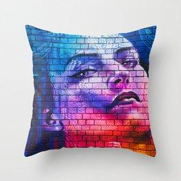 Graffiti Stunner Disco Lights Street Art Throw Pillow