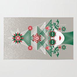 Christmas woman tree Rug